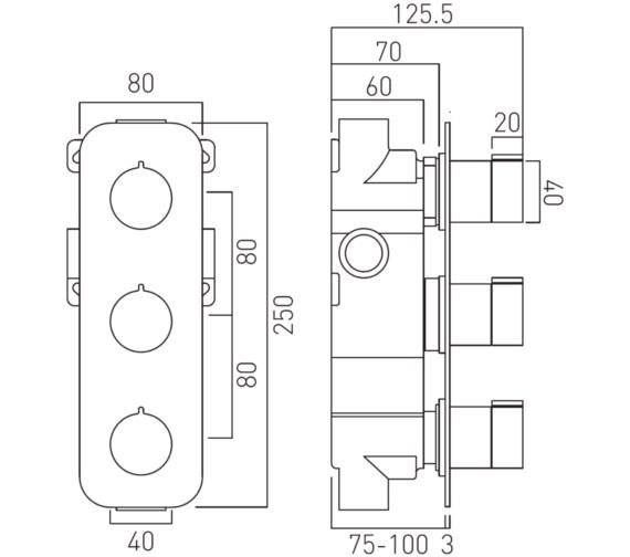 Technical drawing QS-V19742 / TAB-128/2-ALT-C/P