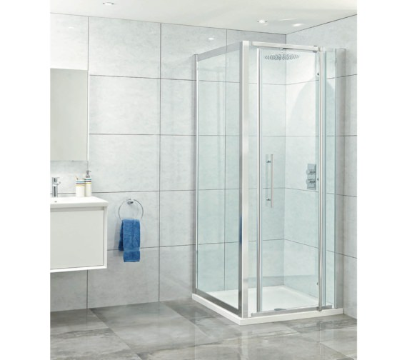 Phoenix Elegance 900mm High Polished Framed Pivot Door
