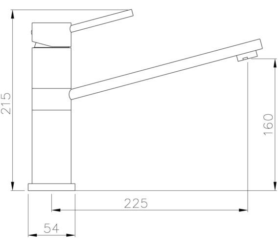 Technical drawing QS-V8633 / AT1225