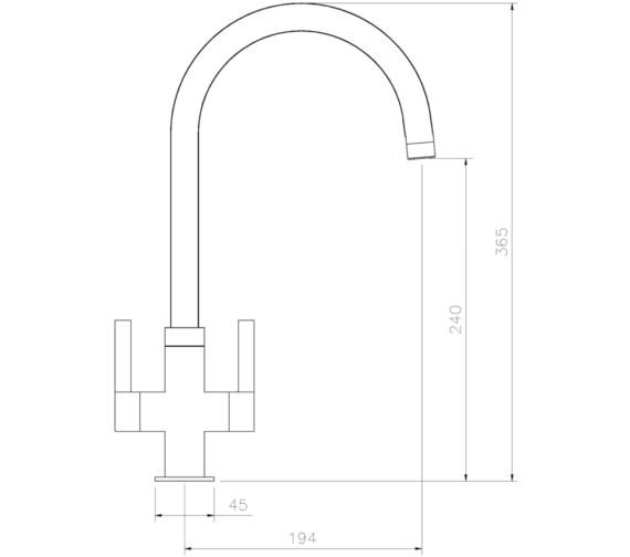 Technical drawing QS-V8635 / AT1227
