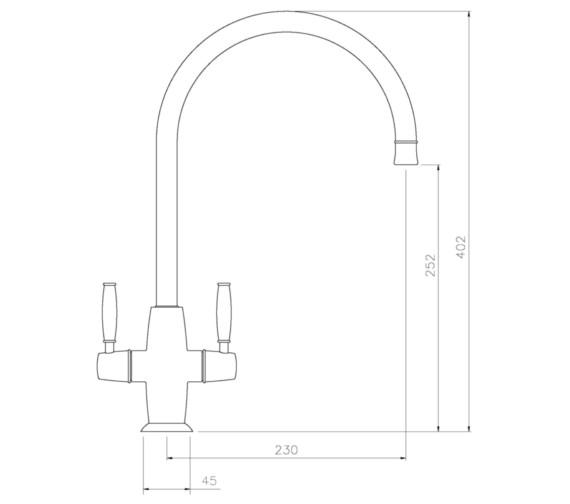 Technical drawing QS-V8636 / AT1228