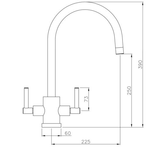 Technical drawing QS-V8638 / AT2004