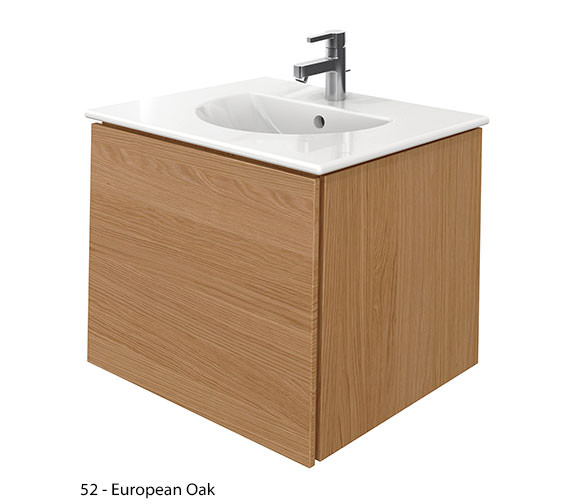 Additional image of Duravit Delos 1 Compartment White Matt Unit With Darling New 630mm Basin