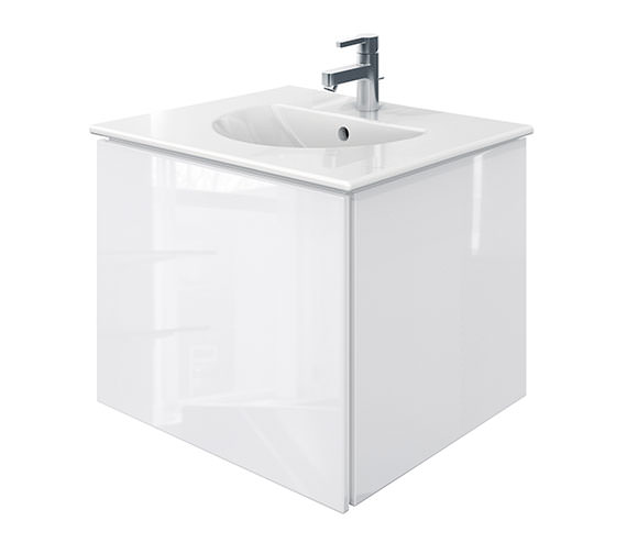 Duravit Delos 1 Compartment White Gloss Unit With Darling New 630mm Basin