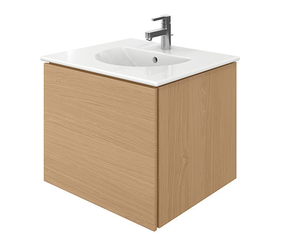 Duravit Delos 1 Compartment Brushed Oak Unit With Darling New 630mm Basin