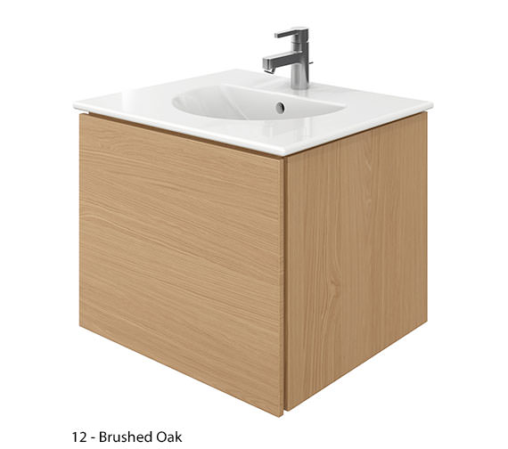 Alternate image of Duravit Delos 1 Compartment Brushed Oak Unit With Darling New 630mm Basin