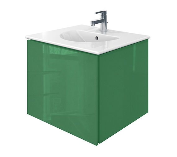 Duravit Delos 1 Compartment Jade High Gloss Unit With Darling New 630mm Basin