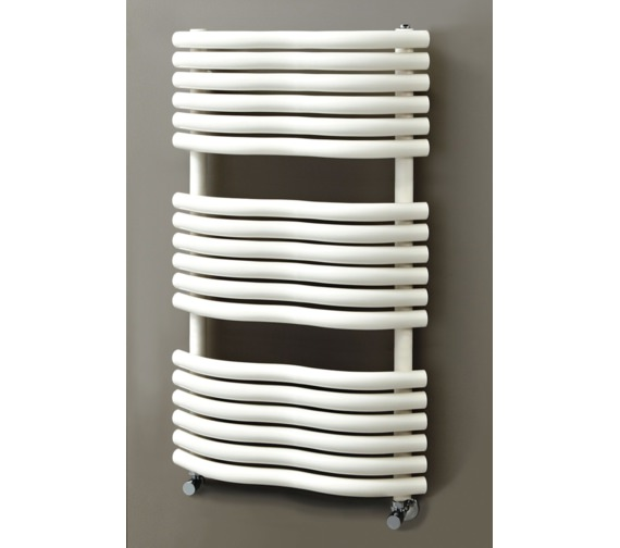 Phoenix Bow 520 x 1090mm Carbon Steel Radiator Latte