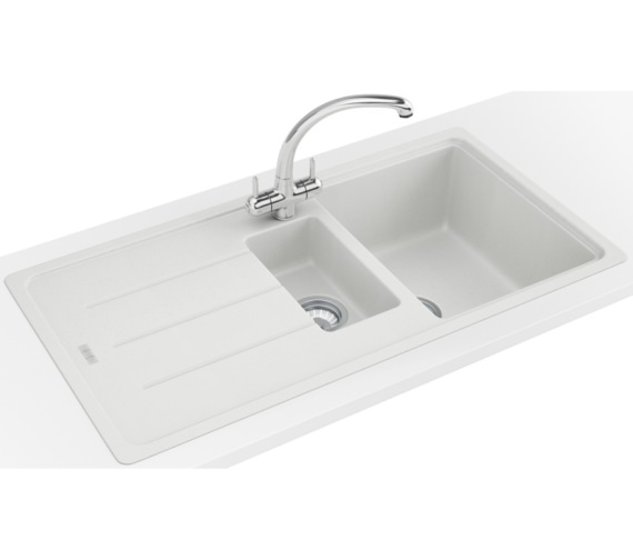 Franke Basis Propack BFG 651 Fragranite Polar White Kitchen Sink And Tap