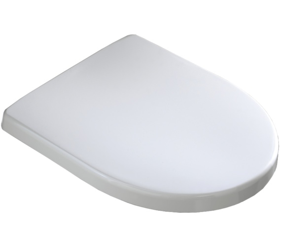 Alternate image of Twyford 3D Standard Toilet Seat And Cover With Stainless Steel Hinges