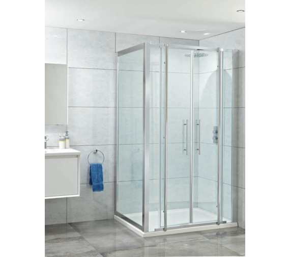 Phoenix Elegance 1400mm High Polished Framed Twin Pivot Door