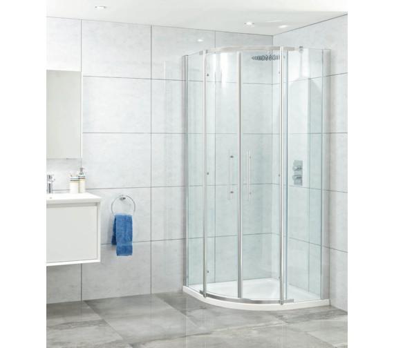 Phoenix Elegance 900mm High Polished Twin Quadrant Door