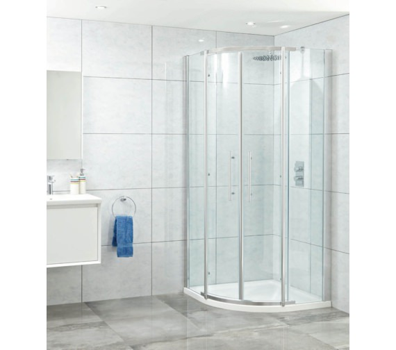 Phoenix Elegance 1200mm x 800mm High Polished Twin Offset Quadrant Door