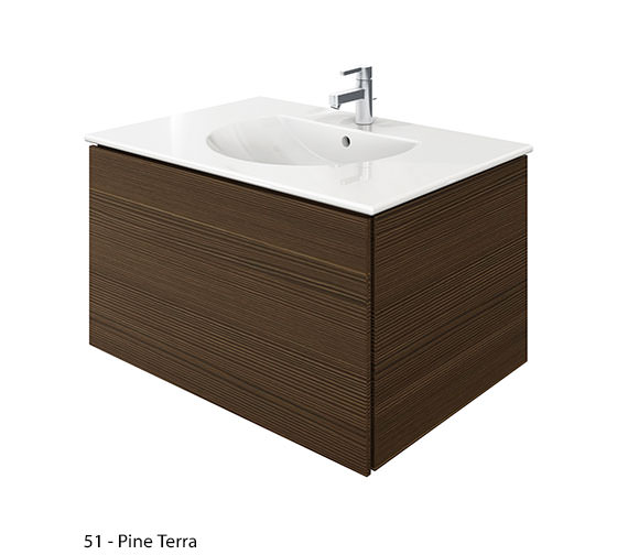 Additional image of Duravit Delos 1 Compartment White Matt Unit With Darling New 830mm Basin