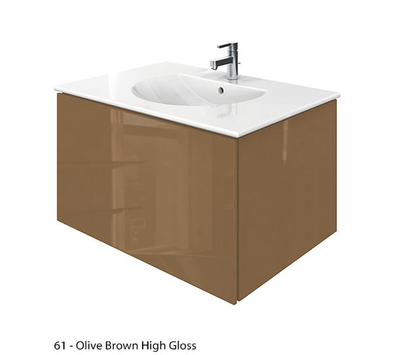 Alternate image of Duravit Delos 1 Compartment Jade High Gloss Unit With Darling New 830mm Basin