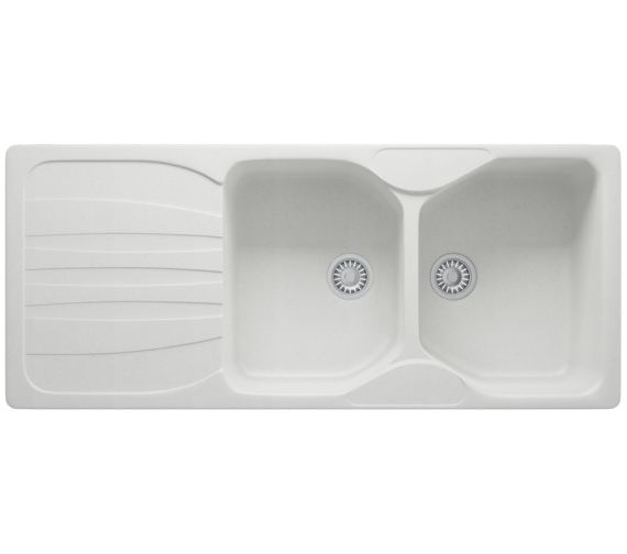 Franke Calypso Sink : Franke Calypso COG 621 Fragranite Polar White 2.0 Bowl Inset Sink ...