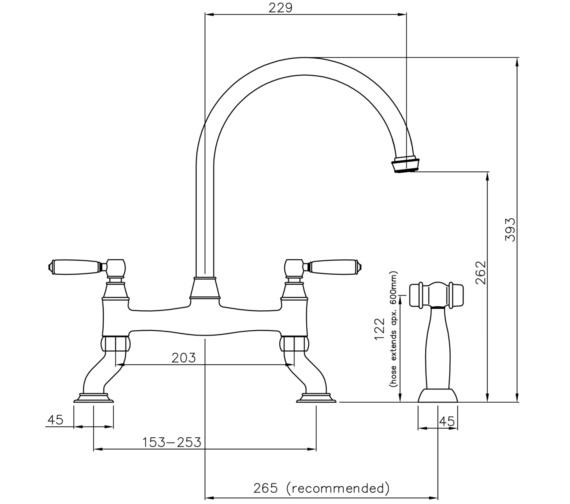 Technical drawing QS-V8650 / AT3009