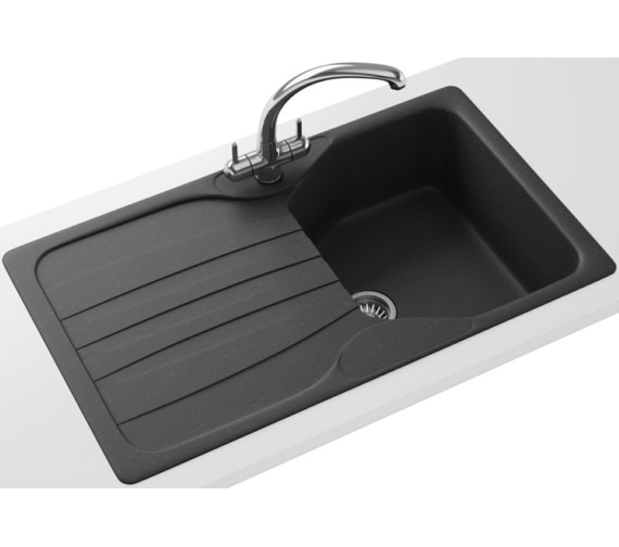 Franke Calypso Propack COG 611 Fragranite Graphite Kitchen Sink And Tap