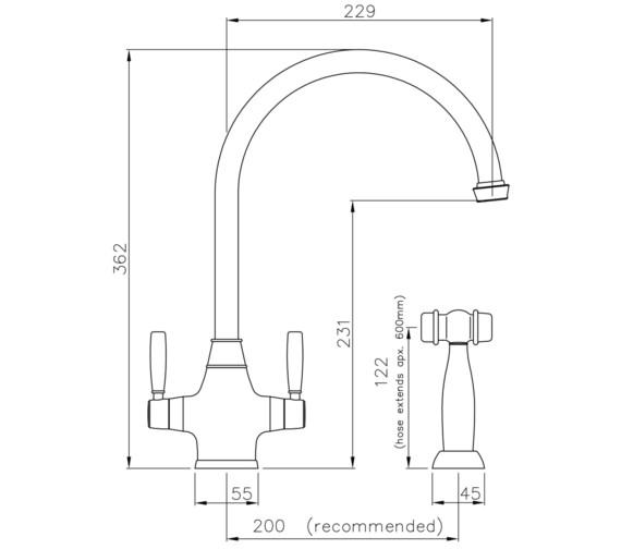Technical drawing QS-V8654 / AT3013