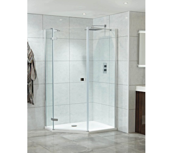 Phoenix Idyllic Neo 1200mm x 900mm Left Hand Clean Glass Hinged Door