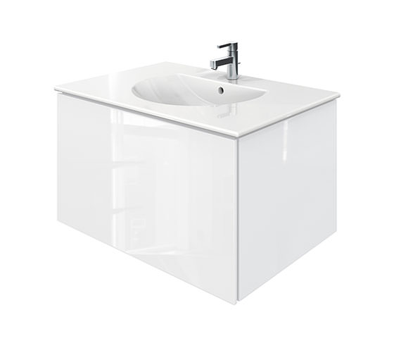 Duravit Delos 1 Compartment White Gloss Unit With Darling New 830mm Basin