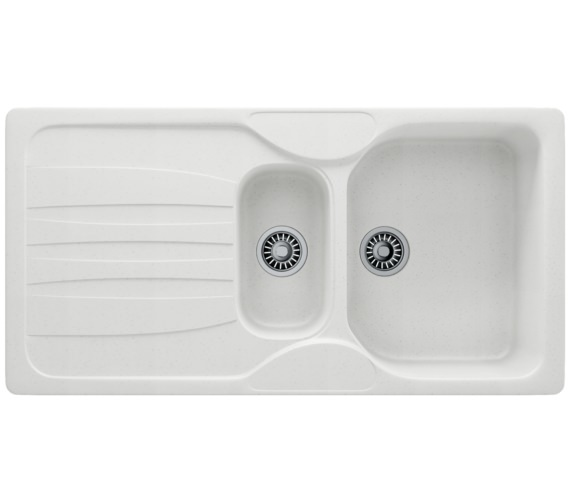 Franke Calypso COG 651 Fragranite Polar White 1.5 Bowl Kitchen Inset Sink