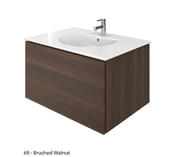 Alternate image of Duravit Delos 1 Compartment Brushed Oak Unit With Darling New 830mm Basin
