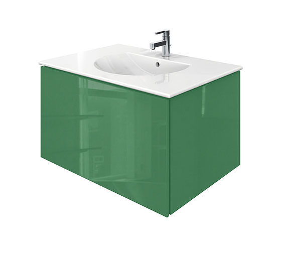 Duravit Delos 1 Compartment Jade High Gloss Unit With Darling New 830mm Basin