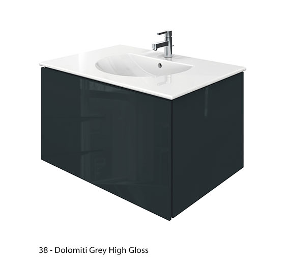 Additional image of Duravit Delos 1 Compartment Jade High Gloss Unit With Darling New 830mm Basin