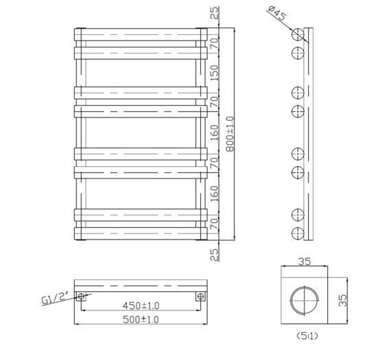 Technical drawing QS-V6564 / RA293