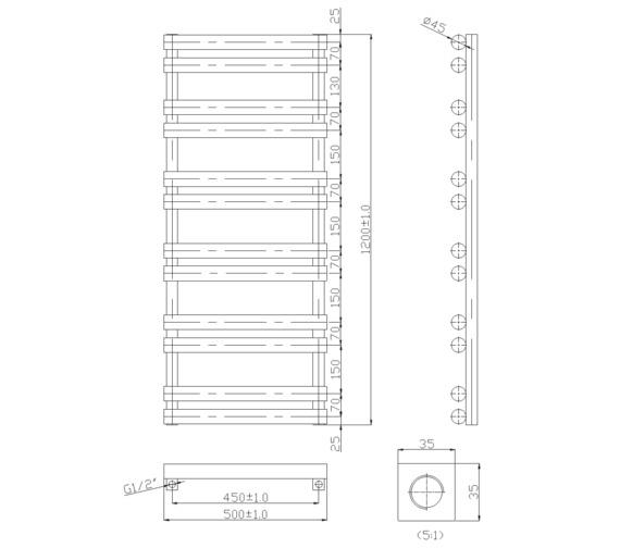 Technical drawing QS-V6565 / RA294