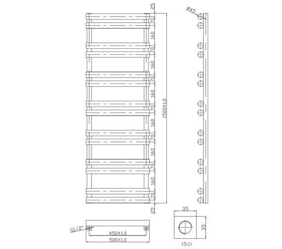 Technical drawing QS-V6566 / RA295