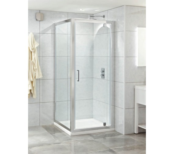 Phoenix Spirit 800mm Clean Glass Single Pivot Shower Door