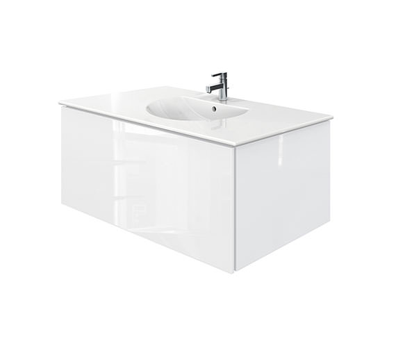 Duravit Delos 1 Compartment White Gloss Unit With Darling New 1030mm Basin