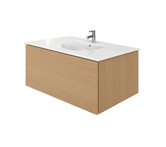 Duravit Delos 1 Compartment Brushed Oak Unit With Darling New 1030mm Basin