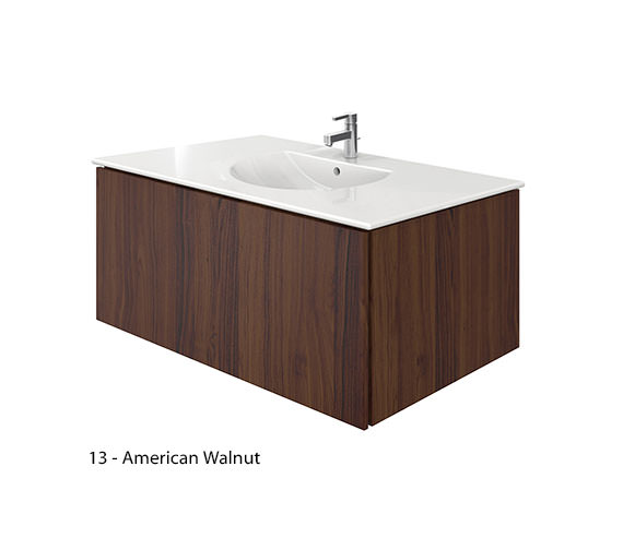 Additional image of Duravit Delos 1 Compartment Brushed Oak Unit With Darling New 1030mm Basin
