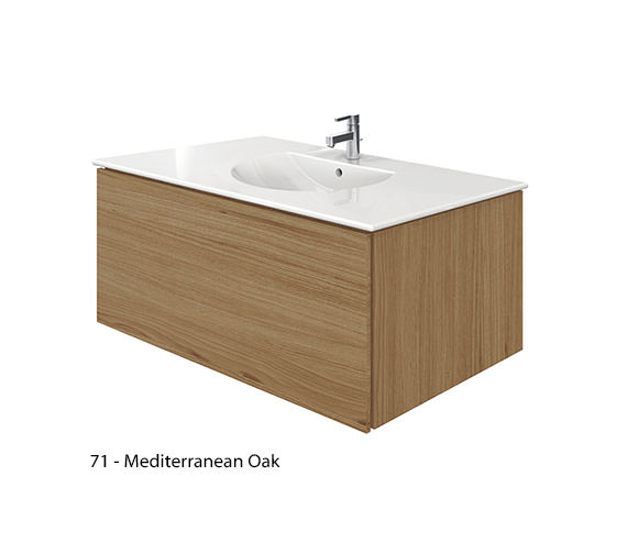 Alternate image of Duravit Delos 1 Compartment Brushed Oak Unit With Darling New 1030mm Basin