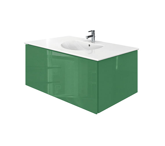 Duravit Delos 1 Compartment Jade Gloss Unit With Darling New 1030mm Basin