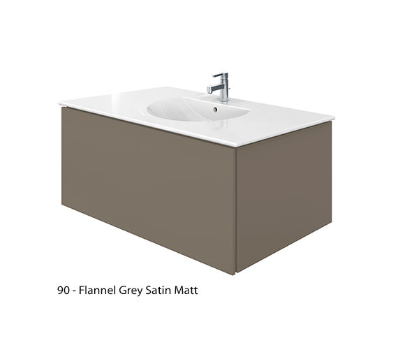 Alternate image of Duravit Delos 1 Compartment Jade Gloss Unit With Darling New 1030mm Basin