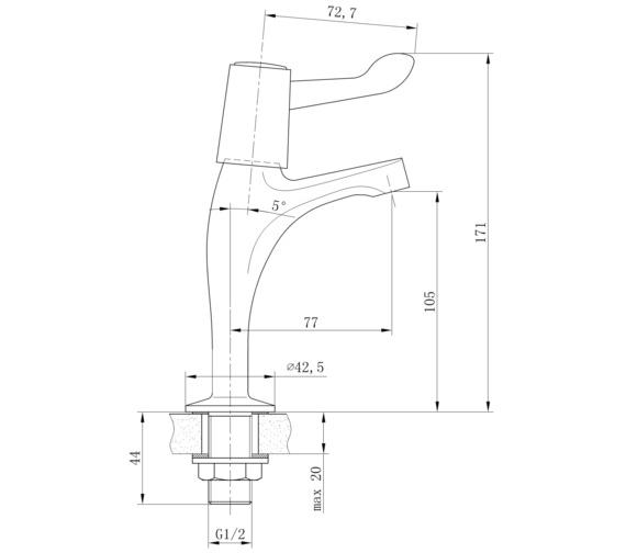 Technical drawing QS-V31212 / KIT129