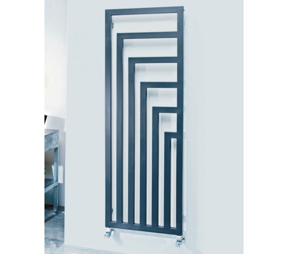 Phoenix Geo 520 x 1460mm Carbon Steel Radiator Anthracite