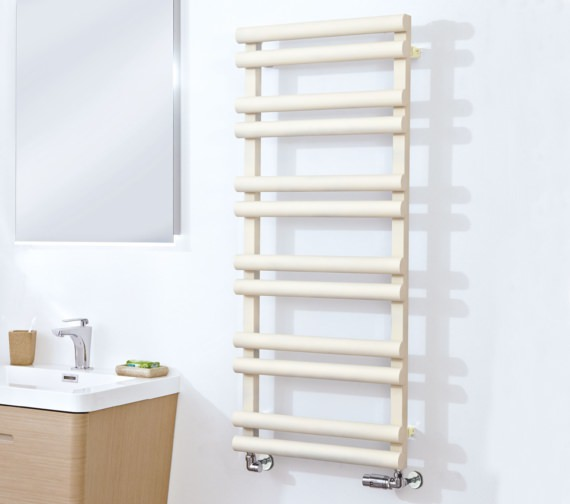 Phoenix Totu 500 x 1200mm Pre-Filled Electric Radiator Latte