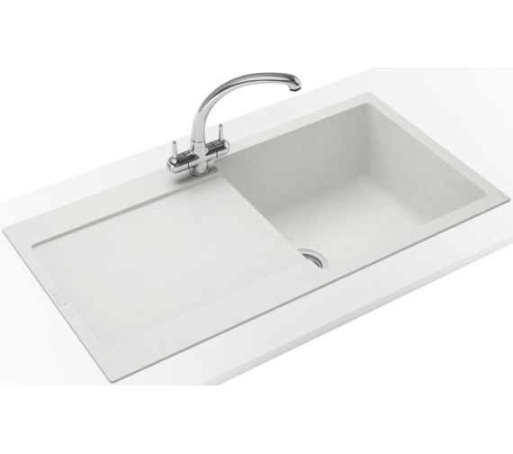 Franke Maris Propack MRG 611 Fragranite Polar White Kitchen Sink And Tap