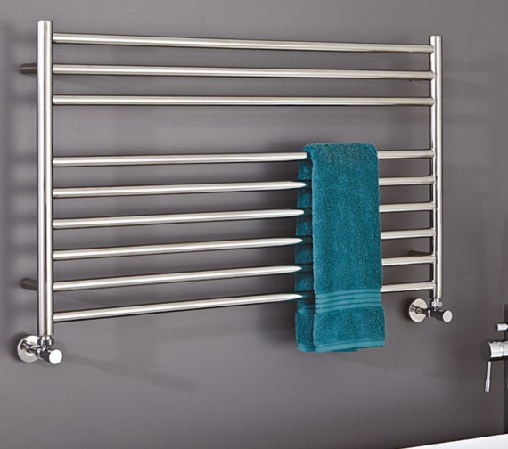 Phoenix Zonta 1200 x 400mm Polished Stainless Steel Radiator