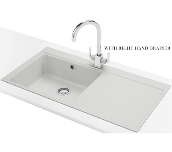 Alternate image of Franke Mythos MTG 611 Fragranite Polar White 1.0 Bowl Inset Kitchen Sink