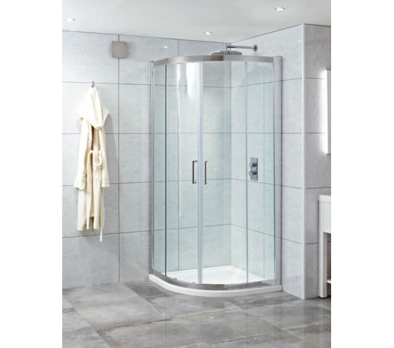 Phoenix Spirit 900 x 800mm Twin Quadrant Door With LH Tray And Waste