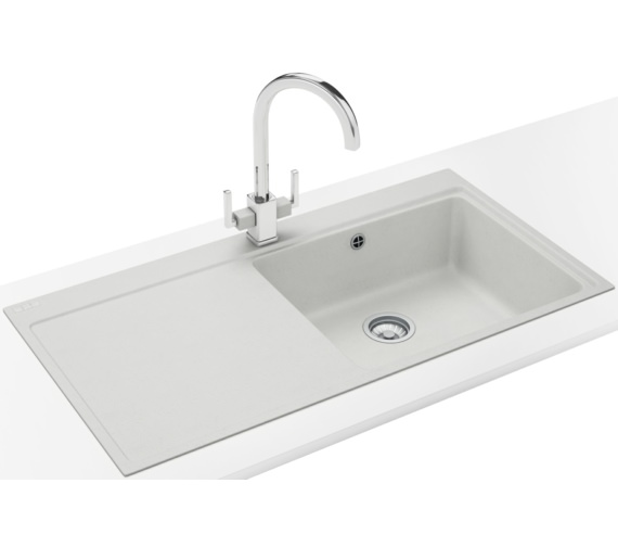 Franke Mythos Designer Pack MTG 611 Fragranite Polar White Sink And Tap