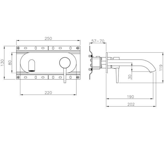 Technical drawing QS-V8540 / AB4041