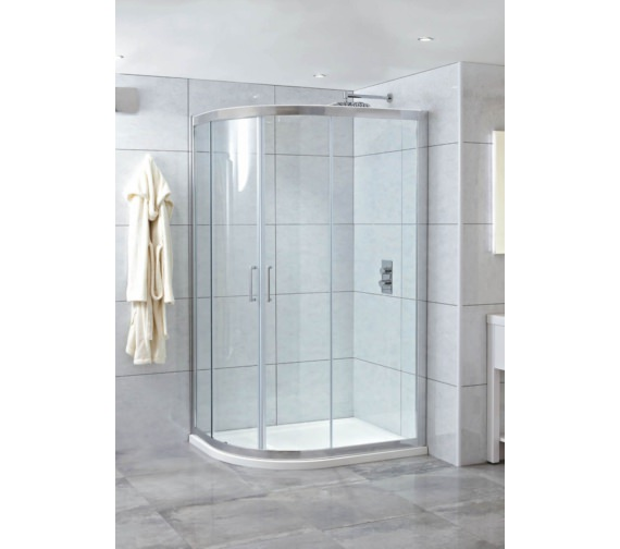 Phoenix Spirit 1200 x 800mm Twin Quadrant Door With LH Tray And Waste