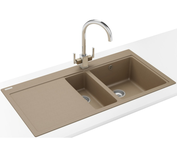 Franke Mythos Designer Pack MTG 651-100 Fragranite Oyster Sink And Tap